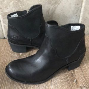 UGG Penelope Women's Boots Leather Black